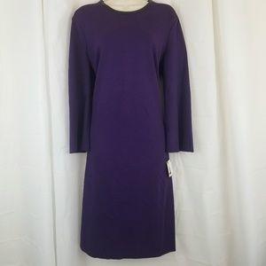 NWT Anne Klein Dress Purple Sheath Size 14